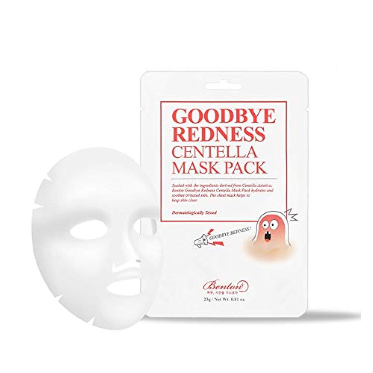 マウントバンク貝殻石膏BENTON ベントン Goodbye Redness Centella Mask Pack Sheet 10 EA グッバイレッドネスセンテラマスクパック 10個 [並行輸入品]
