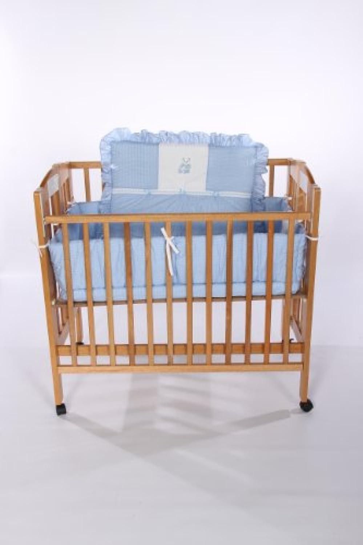 Baby Doll Bedding Gingham with Bear Applique Mini Crib/ Port-a-Crib Bedding Set, Blue by BabyDoll Bedding