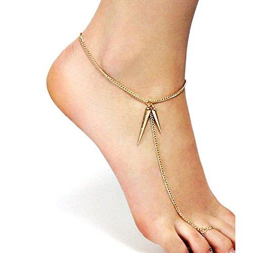 [해외]스파이크 맨발 발목 | 1 개 판매 여성 남성 발 발목 발목 쌍 팔찌 흔들리는 매력 발 발밑 액세서리 맨발 샌들 선물 파티 미산가/Spike Barefoot Anklet | 1 piece on sale Ladies` Men`s Leg Ankle Anklet Pair Bracelet Swinging Charm Foot Foot B...
