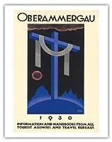 1930オーバーアマガウの受難劇 - バイエルン、ドイツ - ビンテージな宗教的なアート によって作成された リチャード・クライン c. 1930 - アートポスター - 28cm x 36cm
