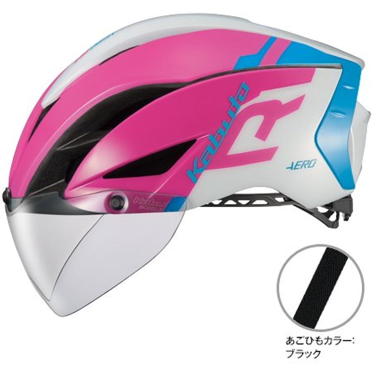 スクラッチ委員会魅力OGK Kabuto(オージーケーカブト) AERO-R1 L/XLサイズ G-1ピンクブルー ヘルメット エアロR1