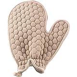 BTXXYJP お風呂用手袋 あかすり シャワー手袋 ボディブラシ やわらか ボディタオル 角質除去 (Color : Gray-A)
