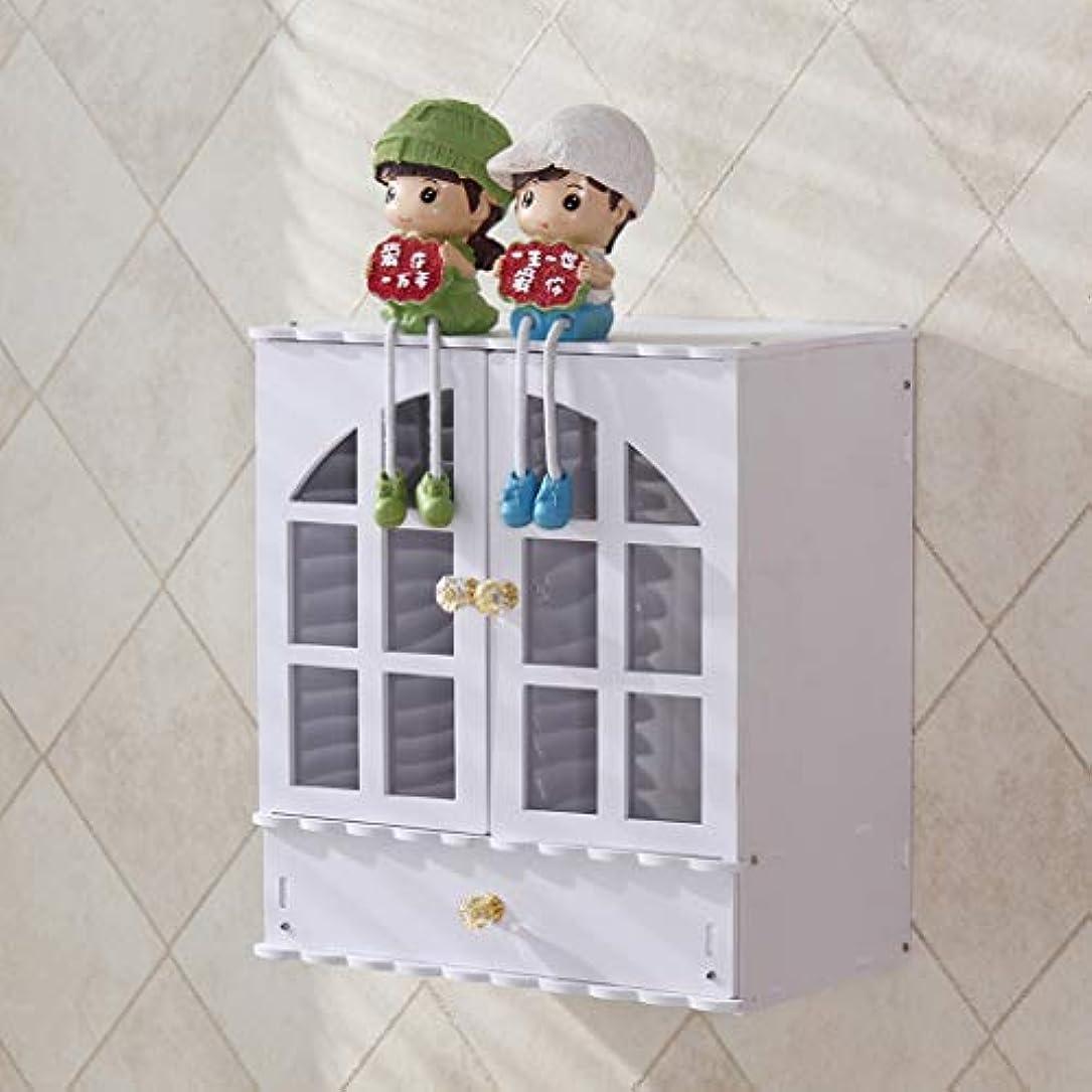 ブレンド簡単に稚魚デスクトップ化粧品スキンケア収納ボックスプラスチック収納キャビネットラックかわいい家庭用ドレッシングテーブル化粧箱 (Color : White)