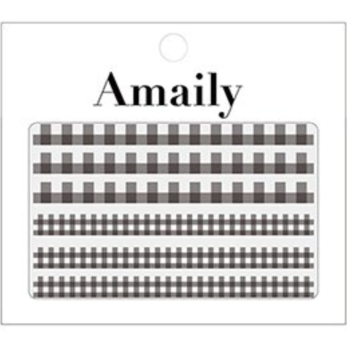 戸棚ささいなスコアアメイリーネイルシール Amaily ネイルシール  No.5-5 ギンガムチェック 黒