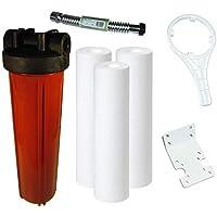 KleenWater 4.5×20インチ 高温水フィルター 温水用 30ガロン 1分流量 マルチパックシステム