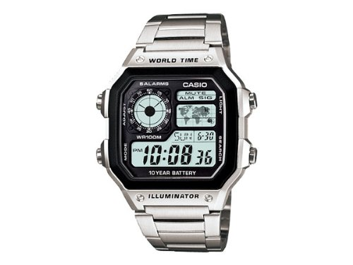 カシオ CASIO スタンダード 10年バッテリー デジタル 腕時計 AE1200WHD-1A [並行輸入品]