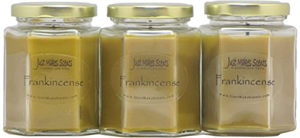 Frankincense香りつきBlended Soy Candle by Just Makes Scents 3 Pack ベージュ