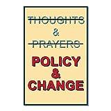 EvolveFISH ポスター ポスター 警察 & Change Not Thoughts & Prayers 11インチ x 17インチ