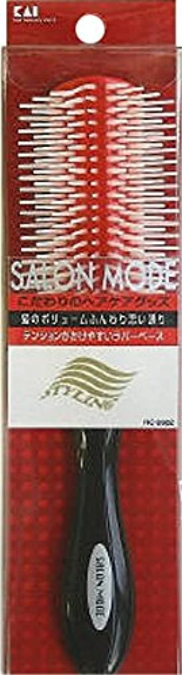 比較的カートリッジリスクサロンモード スタイリングブラシL レッドラバー