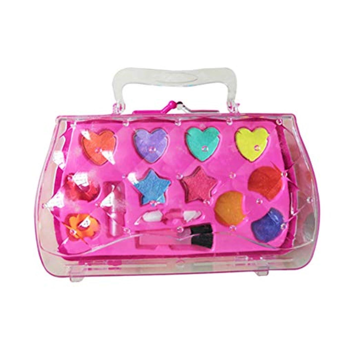 ペンス先夕方Toyvian 女の子はおもちゃのセットを作る化粧品キットの口紅アイシャドーブラシ子供のためのおもちゃを作る女の子(ピンク)
