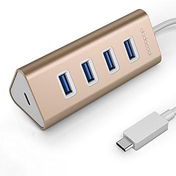 dodocool USB 3.0 Hub USBハブ USB タイプ-C 4ポート USB 3.0 ハブアダプタ USB-C メス 充電ポート PD付き New MacBook用