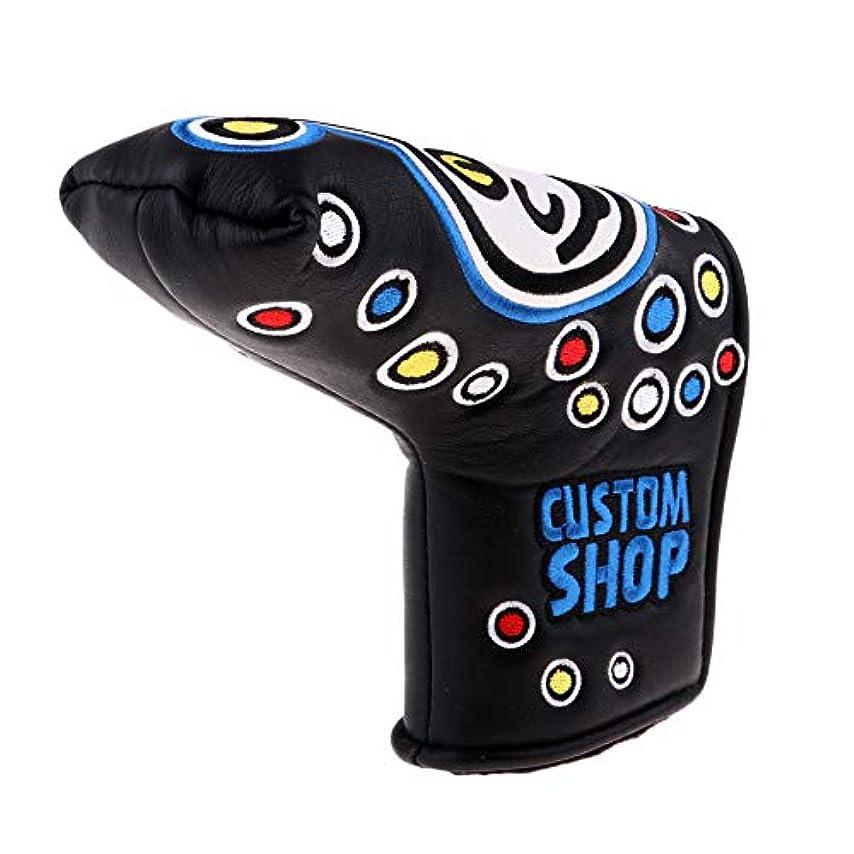 戦士浮く治療PUレザーゴルフパターフードクラブヘッドフードは、スクワットパターに非常に適しており、傷がつきにくく耐久性があります,Blue