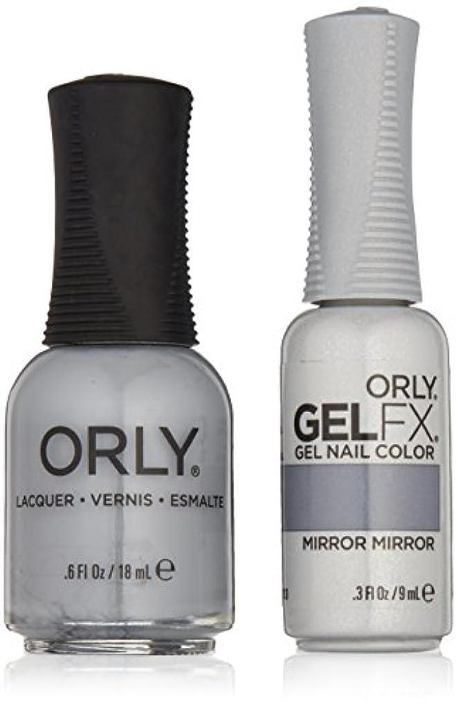 驚ふさわしいトラップOrly Lacquer + Gel FX - Perfect Pair Matching DUO Kit - Mirror Mirror