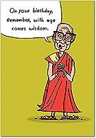 Age Wisdom誕生日ユーモアGreeting Card 1 Birthday Card & Envelope (SKU:8576)