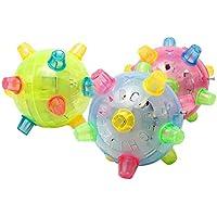Yi Yue Jumping LedボールパーティーFavors for Kids、点滅ライトUp音楽バウンドバウンドボール玩具ベビーギフト(ランダムカラー)