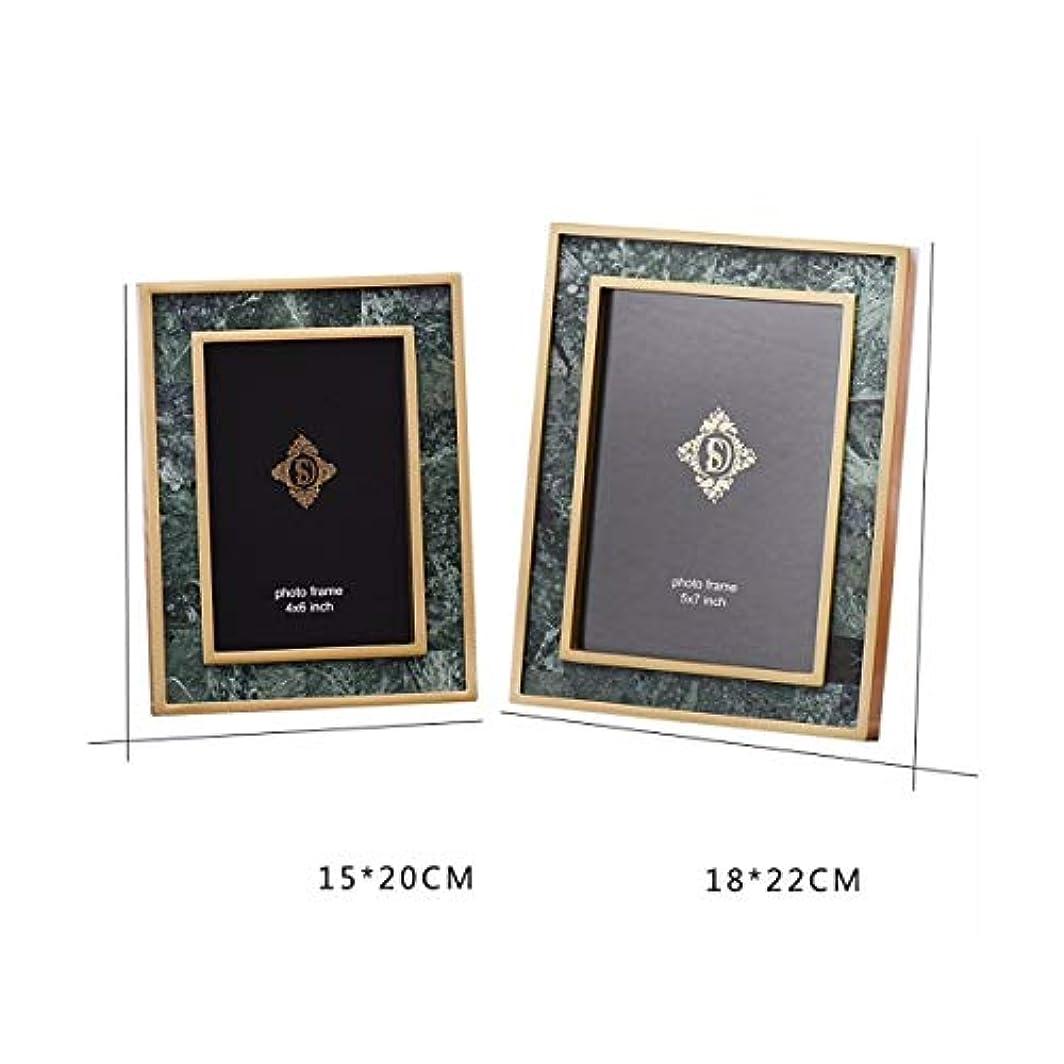 信念存在反抗RLYBDL ベッドサイドテーブルテレビ装飾銅フォトフレーム、ゴールドフォトフレームの装飾、欧州の6インチ7インチフォトアルバム (Color : A, Size : 6 inches)
