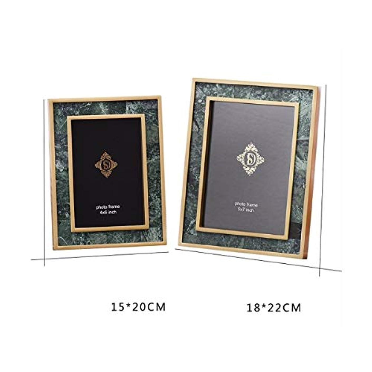 六歴史火炎LANYAOWEN ベッドサイドテーブルテレビ装飾銅フォトフレーム、ゴールドフォトフレームの装飾、欧州の6インチ7インチフォトアルバム (Color : A, Size : 6 inches)