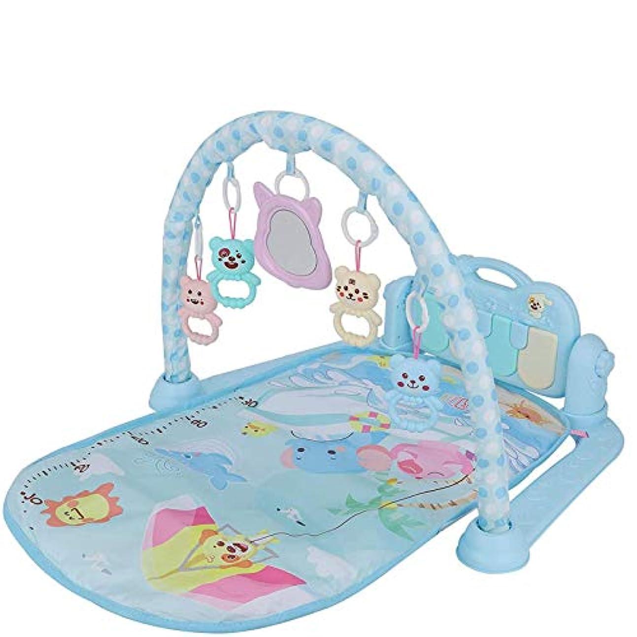 重くするコードにもかかわらず赤ちゃんのプレイマットは、新生児、乳児、新生児用ガラガラ&ぬいぐるみと電気学習ジャングルジム用マットのジムを再生します