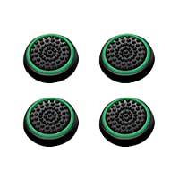Insten [2 Pair / 4 Pcs] Wireless Controllers Silicone Analog Thumb Grip Stick Cover Game Remote Joystick Cap for PS4 Dualshock 4/ PS3 Dualshock 3/ PS2 Dualshock/ Xbox One/ Xbox 360 Black/Green [並行輸入品]