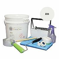 【CORAL TEX】トライアルローラーセット たっぷり20kg 珪藻土風 (017 灰白)と塗装道具セット 塗る人に優しく、環境・健康を考えた西洋漆喰