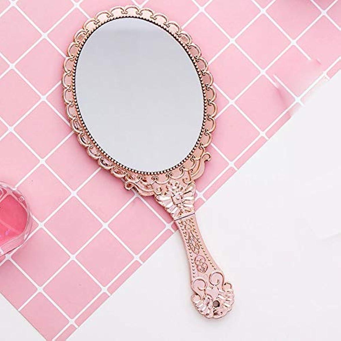 郊外体系的にアンカークリエイティブヴィンテージ柄ハンドル化粧鏡