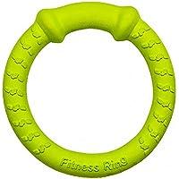 LaRoo 犬おもちゃ ドーナツ型 デンタル玩具 耐久性 ストレス解消 ドッグおもちゃ 小中大型犬用 (グリーン)