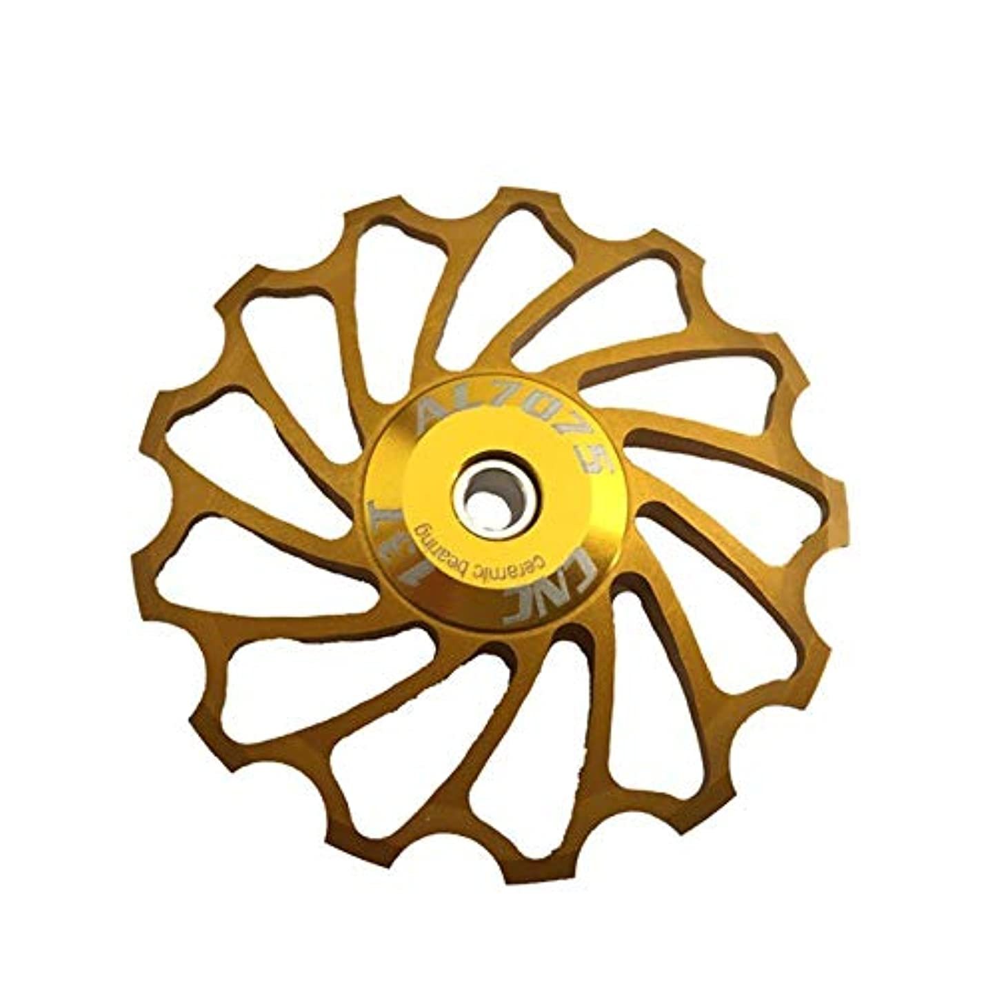 ベーカリー世界に死んだビリーヤギPropenary - Cycling bike ceramics Jockey Wheel Rear Derailleur Pulley 13T 7075 Aluminum alloy bicycle guide pulley bearing bicycle parts [ Gold ]
