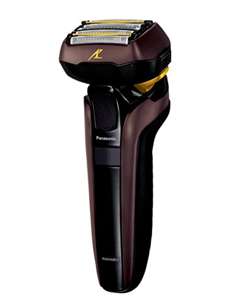夜明け軌道呼吸パナソニック ラムダッシュ メンズシェーバー 5枚刃 茶 ES-CLV7D-T