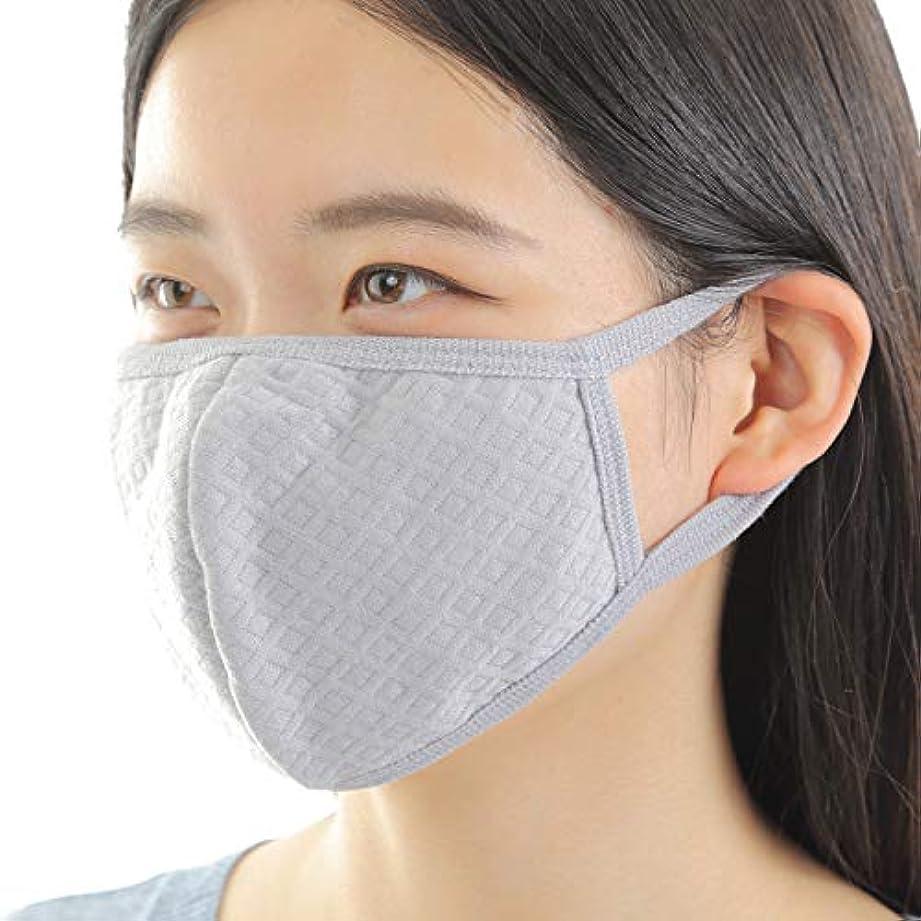 診断する見せます制裁マスク 【快適 洗える 立体マスク 花粉症 カラーマスク】布マスク 花粉 防塵 ウイルス PM2.5 を防ぐ (3枚, グレー)