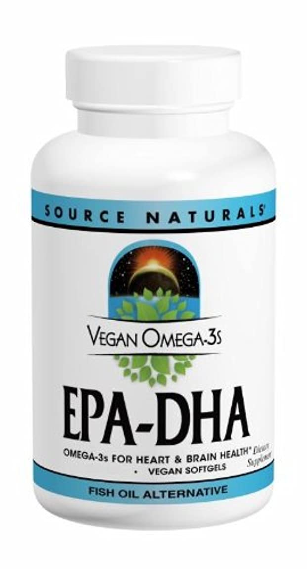 近代化するあえて生き残りソースナチュラルズ社 植物由来の優れたEPA/DHA!Vegan Omega-3s 生臭いあと味も臭いも残りません! (60粒)