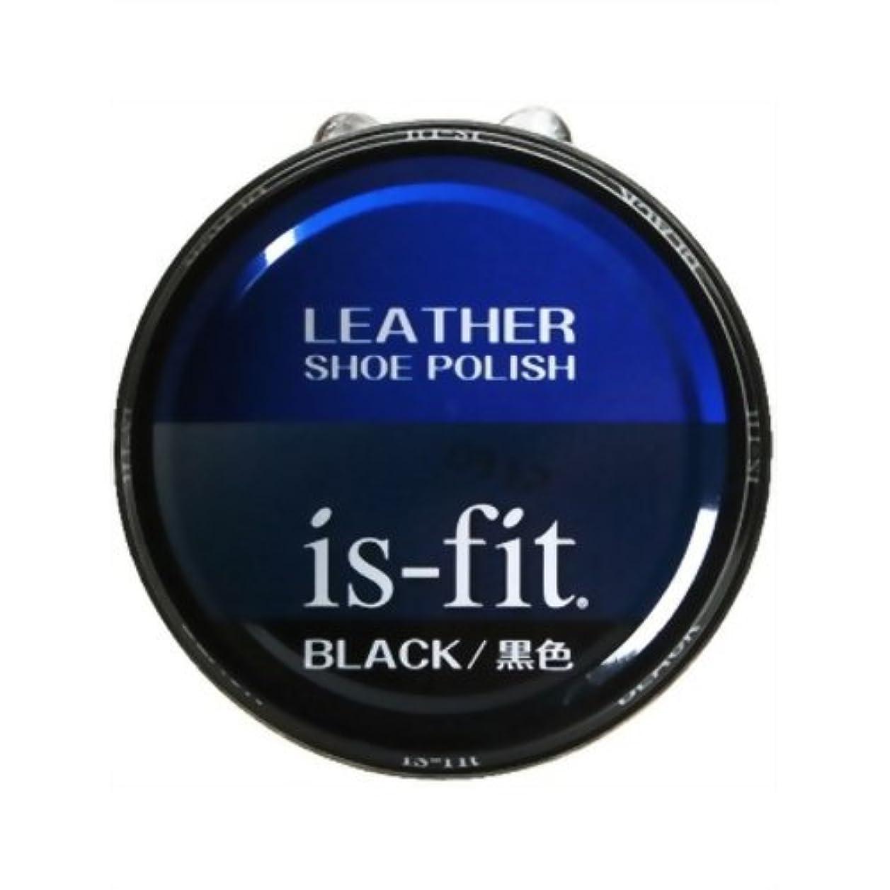 フェッチジャングル単調なis-fit 油性靴クリーム (50ml 黒)