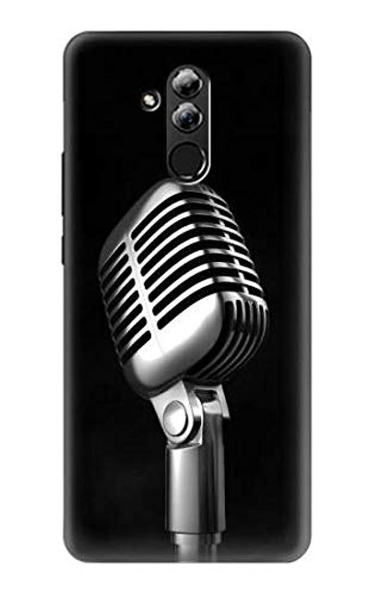 包帯かろうじてウィンクJP1672H2L レトロ マイク ジャズ音楽 Retro Microphone Jazz Music Huawei Mate 20 lite ケース
