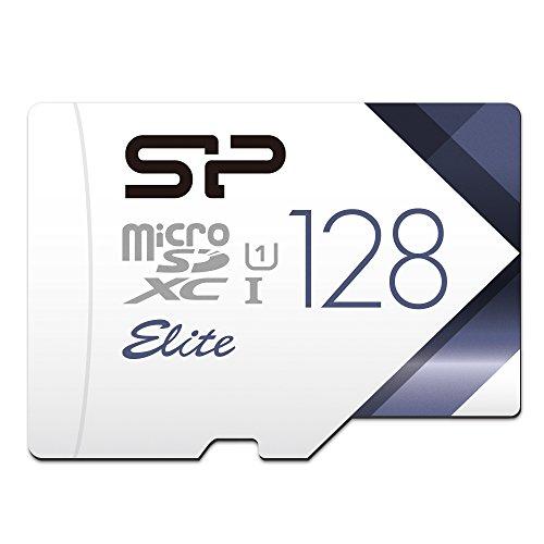 【Amazon.co.jp限定】シリコンパワー microSDXCカード 128GB class10 UHS-1対応 最大読込75MB/s アダプタ付 永久保証 SP128GBSTXBU1V20BS