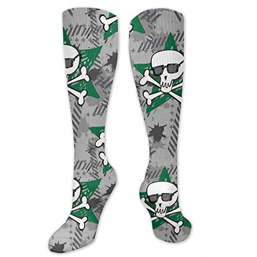 ガロン小競り合いくるくる靴下,ストッキング,野生のジョーカー,実際,秋の本質,冬必須,サマーウェア&RBXAA Skull Socks Women's Winter Cotton Long Tube Socks Knee High Graduated...