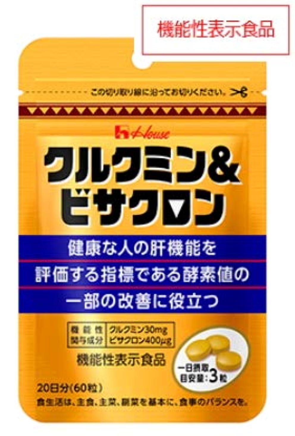戸棚警告する特権的ハウス クルクミン&ビサクロン 60粒(20日分)2個セット【機能性表示食品】
