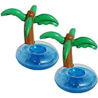 BESTOYARD カップ浮き輪 ドリンク浮き輪 ドリンクホルダー プールパーティー用品 夏日 水遊びおもちゃ 椰子の木形 2個