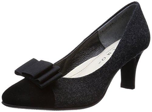 リボンモチーフラウンドトゥパンプスc メルモ(靴)
