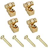 Timiy Pack of 4 Pcs Guitar Vintage Roller String Trees Retainers String Guides with Screws (Gold)