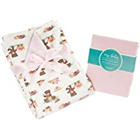 My Baby Toddler Bedding Set for Girls – Includesフリースの毛布スーパーソフトコットンシートセットfor幼児用サイズベッド用OneサイズFits All (複数のデザイン&カラー使用可能) 121315-P