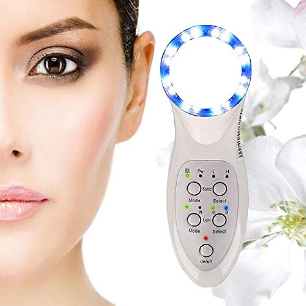 グリット寛大な電圧美顔術のマッサージャー、7つのLEDライトスキンケアのしわの除去剤のマッサージャーの栄養素の液体の紹介者世帯の美の心配装置