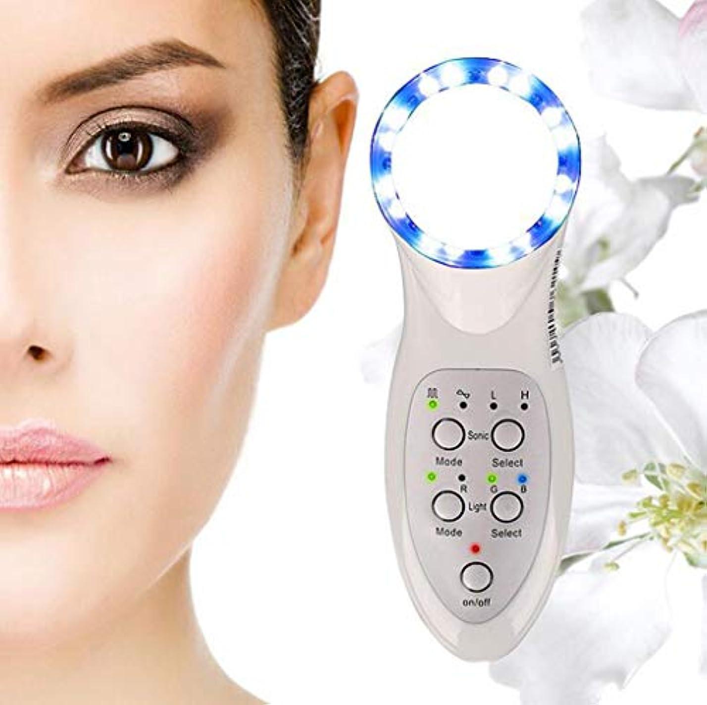 開いた通貨材料美顔術のマッサージャー、7つのLEDライトスキンケアのしわの除去剤のマッサージャーの栄養素の液体の紹介者世帯の美の心配装置