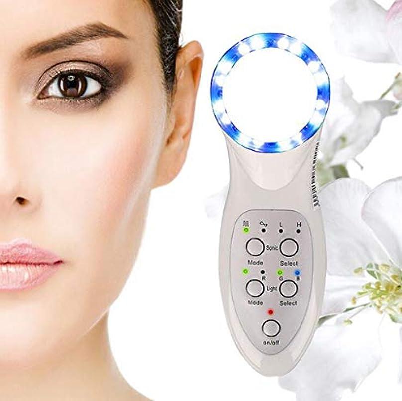モネ統計的十分に美顔術のマッサージャー、7つのLEDライトスキンケアのしわの除去剤のマッサージャーの栄養素の液体の紹介者世帯の美の心配装置