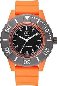 [キューアンドキュー スマイルソーラー]Q&Q SmileSolar 腕時計 ソーラー アナログ 20気圧防水 直径45mm オレンジ RP30-004 メンズ