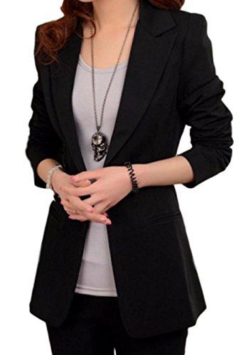 [해외](가져 가게 MK) 선택할 색상 긴팔 자켓 테일러드 넓은 긴 길이 (블랙 M)/(Import Store MK) Color Ladies Long Sleeve Jacket Tailored Loose Long Loose (Black M)