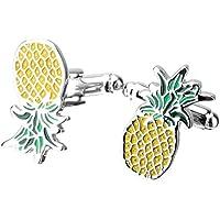 SGerste Gorgeous Handmade Brass Plated Pineapple Cufflink French Suit Shirt Cufflink