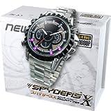 スパイダーズX 腕時計型カメラ 小型カメラ スパイカメラ (W-702) ブラック文字盤