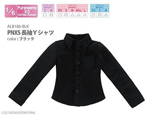 ピュアニーモ用ウェア PNXS長袖Yシャツ ブラック (ドール用)
