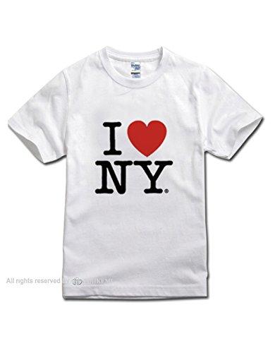 I ? N.Y  T-Shirt (ホワイト uni-sex) (M)