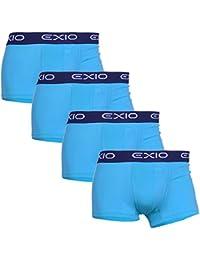 EXIO(エクシオ)ボクサーパンツ メンズ 4枚 セット ブランド 下着 ローライズ ボクサー パンツ ボクサーブリーフ ブリーフ