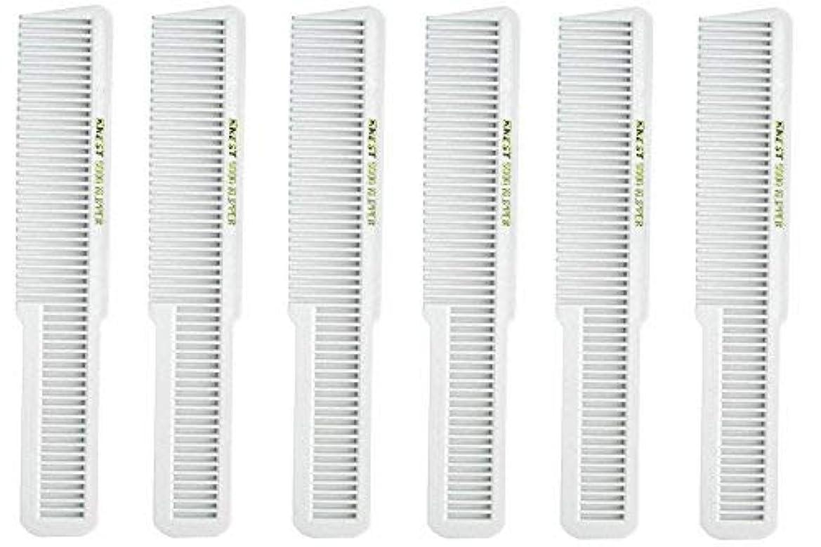 過激派適格節約するBarber Beauty Hair Krest 9000 Clipper Cutting Comb (6 Pack) 6 x SB-K9000-WHITE [並行輸入品]